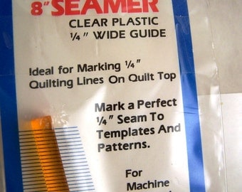 """EZ Quilting  Acrylic 1/4"""" Seam Template 8"""" Seamer Sewing Quilting"""