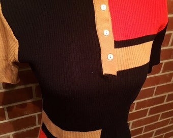 Amazing mod women's short sleeve sweater