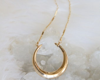 Crescent, Horn, Long Necklace