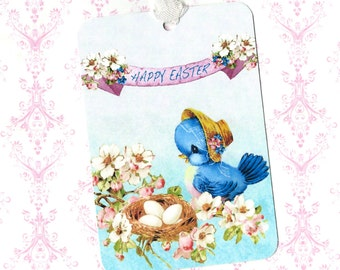 Easter Tags, Bluebird, Gift Tags, Basket Tags, Children, Easter Gift