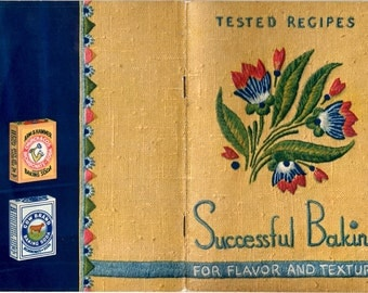 Successful Baking Tested Recipes for Flavor and Texture Vintage 1930s Cake Loaf Gingerbread Muffin Arm & Hammer Baking Soda Cooking Pamphlet