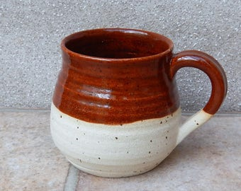 Cuddle mug coffee tea cup in stoneware hand thrown ceramic handmade pottery wheelthrown