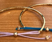 14K Gold Baby, Toddler, Girls Square Bow Tie Bracelet - Engraving