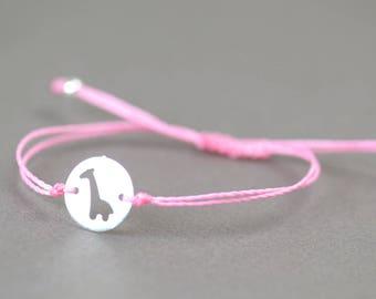 Sterling silver Giraffe   bracelet
