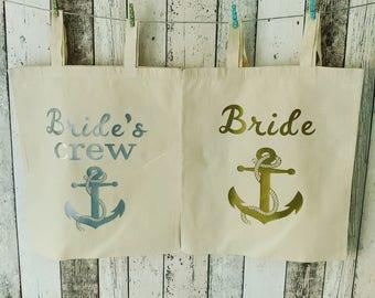 Bride nautical tote bag