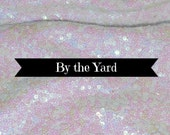 Mermaid Iridescent Pink on White Sequin Bolt Fabric Various Sizes Sewing Material