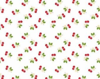 Sew cherry 2 White Cherry by Lori Holt for Riley Blake C5804-WHITE