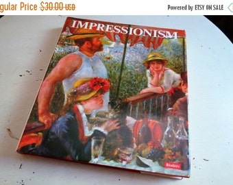 SALE Vintage IMPRESSIONISM Coffee Table Art Book by Realites 1973