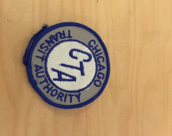 vintage chicago transit authority patch, new old stock, 1970's