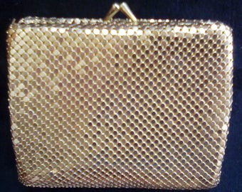 Gold Mesh Wallet Coin Purse 1950s