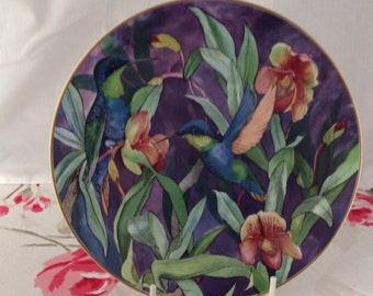 Wedgwood Refulgent Woodnymph Collectible Plate by Emma Faull, Hummingbird Plate ,