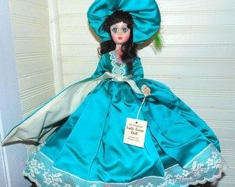 Original Lady Anne Doll, Scarlett O'Hara Doll, Standing Doll, Green dress, Green eyes, Brown hair, Williamsburg Margaret Anne Doll