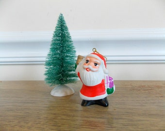 Vintage Avon Santa, Santa Claus, Ceramic Santa, Christmas Ornament, Santa Ornament, Santa Claus, Stocking Stuffer, 1980s, Vintage Santa