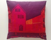 Winter houses Marimekko cushion cover red Scandinavian Christmas home decor
