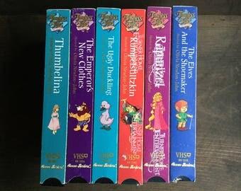 Timeless Tales from Hallmark Lot of 6, Vintage Children's Movies VHS, Hallmark movies, Hanna Barbera, fairytales, preschool, homeschool