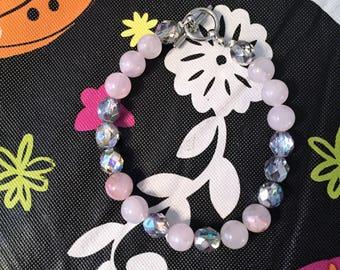 Beautiful Rose Quartz and Czech Glass Beads bracelet~Healing Stones