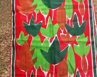 Vintage Vera Neumann long spring scarf