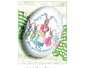 personalized easter egg ceramic - grandmother and all her bunnies