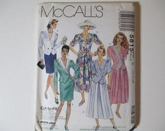 McCall's 5815, Two-Piece Dress Pattern, Uncut, Sizes 10, 12, 14