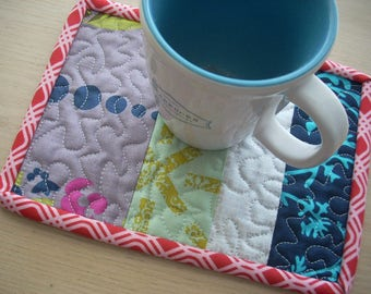 mug rug in Alison Glass fabrics - FREE SHIPPING