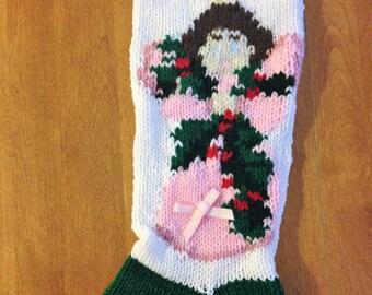 Angel Christmas Stocking, Christmas Stocking, Personalized Stocking