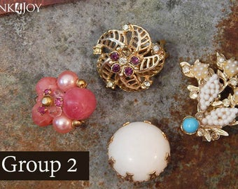 Vintage Earring Refrigerator Magnets Clips Group 2