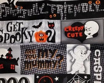 Halloween Get Spooky Casper Quilting Fabric--Hard Find--Last Piece -- 40-70% off Patterns n Books SALE