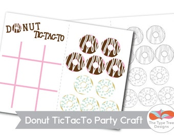 Donut Party Craft or Party Favor Printable