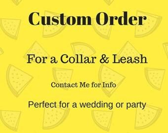 Custom Dog Collar and Leash  for Emily Huertas - The Doggie House