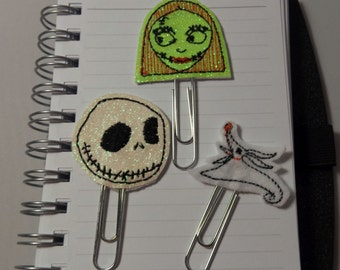 Nightmare before Christmas Planner Clip / Bookmark Set of 3