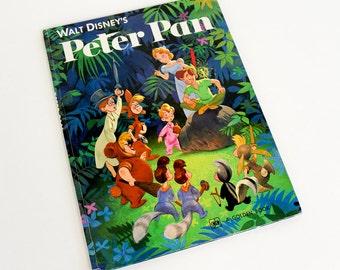 Vintage 1970s Childrens Book / Walt Disney's Peter Pan 1979 Hc / Big Golden Book