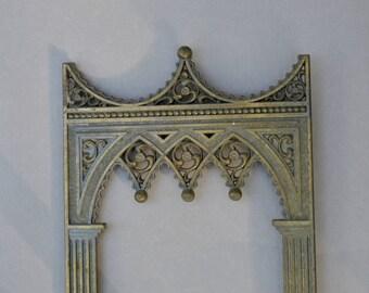 Gothic Metal Panel . Repurpose  . Frame Panel . Vintage . Old Panel