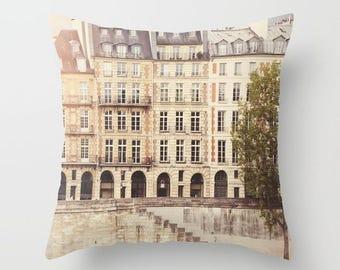 Paris Print Throw Pillow //Paris Architecture // Decorative Throw Pillows // Hostess Gift // Paris Windows Urban Decor Throw Pillow