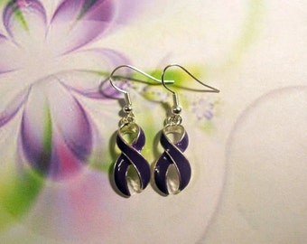 Purple Awareness Earrings-SALE