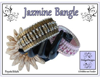 Beading Pattern Tutorial, Bangle - JAZMINE