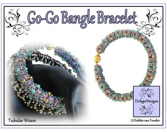 Beading Pattern, Tutorial, Bangle - GO-GO