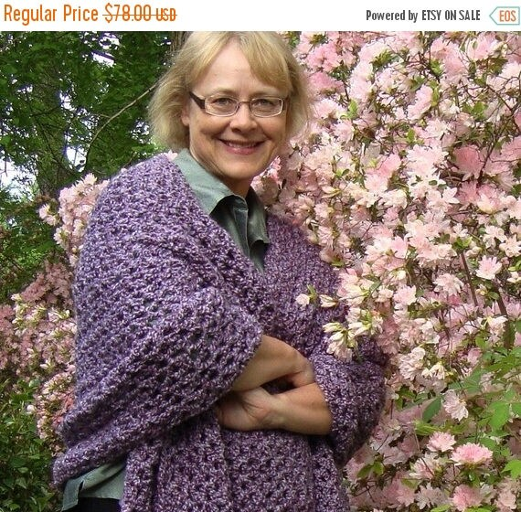 25% OFF Crochet Shawl, Shawl, Wraps Shawls, Lavender Shawl, Evening Shawl, Gift for Him, Gift for Her, Purple Shawl, Meditation Shawl