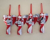 Set of 4 re-cycled diet coke Angel Ornaments