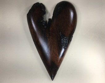 Redwood Burl wooden wall Heart personalized wood Anniversary Gift