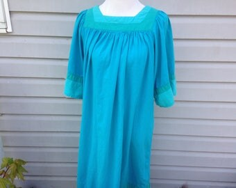 Aqua Caftan Tunic Dress XL