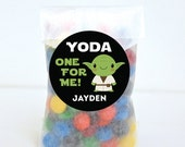Valentine's Day Stickers - Star Wars - Yoda One For Me! - Sheet of 12 or 24