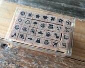 New - Mini Illustration Stamp Set fpr planner, bullet journaling, hobonichi planner