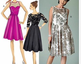Classic Evening Dress Pattern, Special Ocassion Dress Pattern, Butterick Sewing Pattern 6415