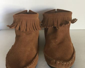 Pair of Vintage MINI BODEN Fringed Moccasins