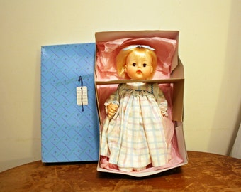 Vintage Madame Alexander Sweet Baby  #3635 Vinyl Baby Doll in Original Outfit and Box