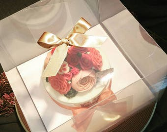 10 Clear cake boxes with trays