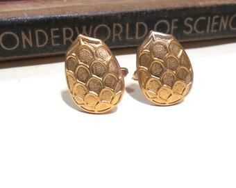 Raw Bras Dragon Egg Cuff Links - Medieval - Gold Mermaid Scales Turtle Soldered - Game of Thrones - Khaleesi -  Daenerys Targaryen