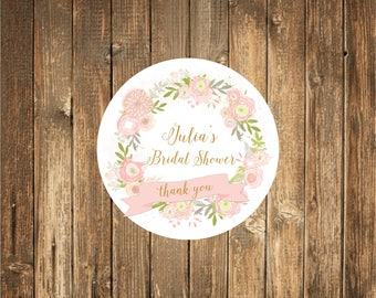 Custom Wedding Favor Stickers_ Bridal Shower Favor Stickers- Favor stickers- Bridal Shower Favor