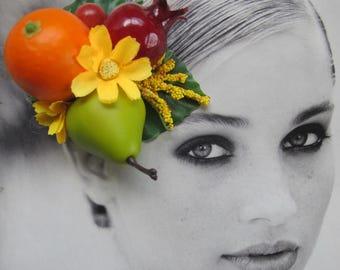 Fruits hair Clip - Carmen Miranda Style - Burlesque - Retro - Rockabilly