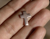 Cross 11mmx15mm Religious, Metal Blanks Cutout for Enameling Stamping Soldering - Variety of Metals  6 pieces